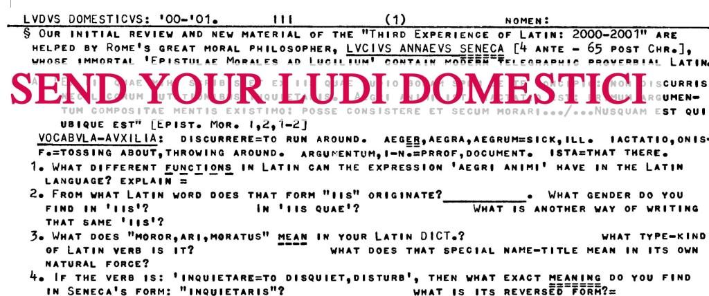 Send your Ludi Domestici