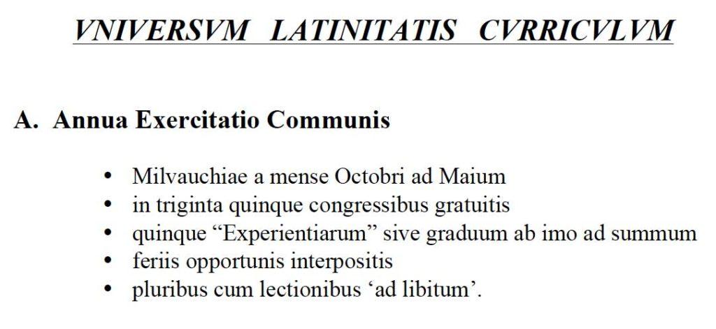 Universum Latinitatis Curriculum