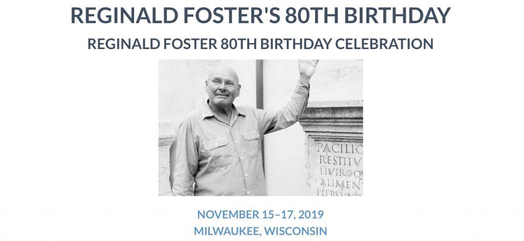 Reggie's 80th Birthday Party announcement