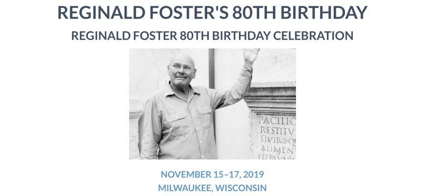 Reggie's 80 years Birthday Party announcement